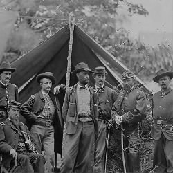 General Charles Griffin and staff of 8